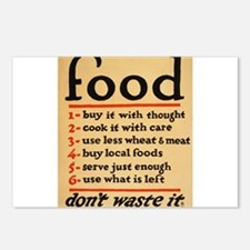 Food poster Postcards (Package of 8)