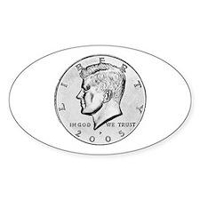 Kennedy Half-Dollar Oval Decal