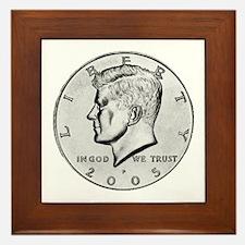 Kennedy Half-Dollar Framed Tile