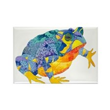 Fire Toad Rectangle Magnet