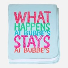 What Happens at Bubbe's baby blanket