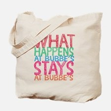 What Happens at Bubbe's Tote Bag