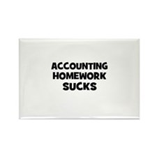accounting Homework Sucks Rectangle Magnet