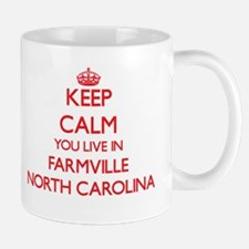 Keep calm you live in Farmville North Carolin Mugs