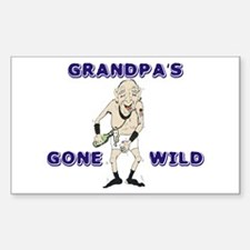 Grandpa's Gone Wild Rectangle Decal