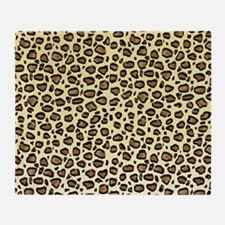 Leopard Animal Print Pattern Throw Blanket