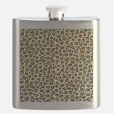 Leopard Animal Print Pattern Flask
