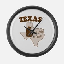 Texas: Most Likely to Secede Large Wall Clock