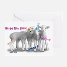 Whisper Lambs New Year Greeting Cards