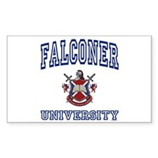 FALCONER University Rectangle Decal