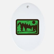 CAMPING Ornament (Oval)