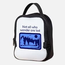 NOT ALL WHO WANDER Neoprene Lunch Bag