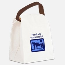NOT ALL WHO WANDER Canvas Lunch Bag