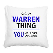 Unique Warren Square Canvas Pillow