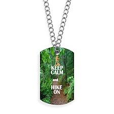 Keep Calm and Hike On Dog Tags
