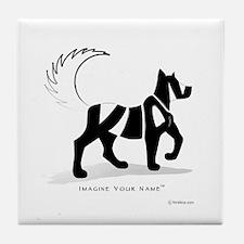 Kian Black Dog Tile Coaster