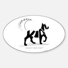 Kian Black Dog Oval Decal