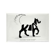 Kian Black Dog Rectangle Magnet