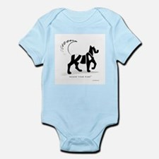 Kian Black Dog Infant Bodysuit