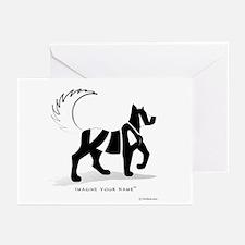 Kian Black Dog Greeting Cards (Pk of 10)
