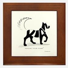 Kian Black Dog Framed Tile