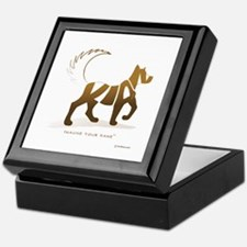 Kian Light Brown Dog Keepsake Box