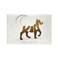 Kian Light Brown Dog Rectangle Magnet