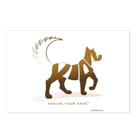 Kian Light Brown Dog Postcards (Package of 8)