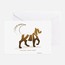 Kian Light Brown Dog Greeting Cards (Pk of 10)
