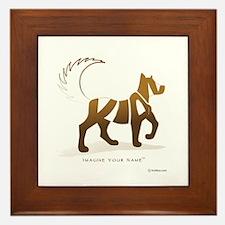Kian Light Brown Dog Framed Tile