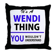 Funny Wendy's Throw Pillow