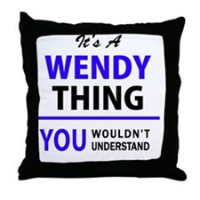 Cute Wendy's Throw Pillow
