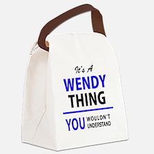 Cute Wendy Canvas Lunch Bag