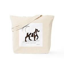Kian Brown Dog Tote Bag