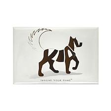 Kian Brown Dog Rectangle Magnet