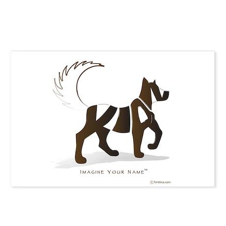 Kian Brown Dog Postcards (Package of 8)