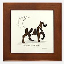 Kian Brown Dog Framed Tile