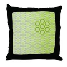 Honeycomb Green Graphic Throw Pillow