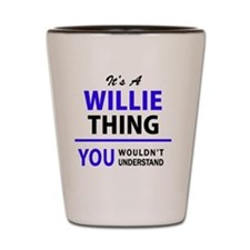Funny Willy Shot Glass