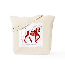 Nadia Red Horse Tote Bag