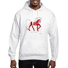 Nadia Red Horse Hoodie Sweatshirt
