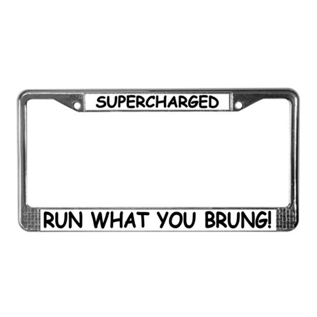 Supercharged License Plate Frame