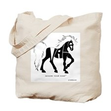 Nadia Black Horse Tote Bag