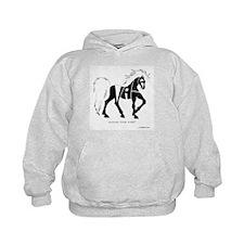 Nadia Black Horse Hoodie