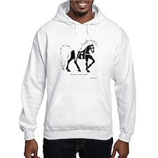Nadia Black Horse Hoodie Sweatshirt