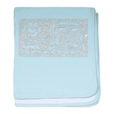 Palenque Ancient Astronaut UFO White baby blanket