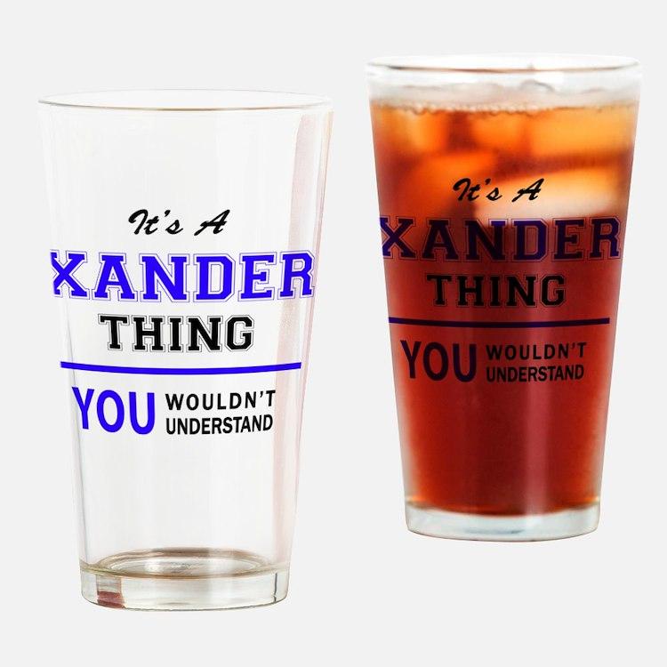 Cute Xander Drinking Glass