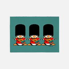 British Soldier Penguins 5'x7'Area Rug