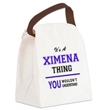 Funny Ximena Canvas Lunch Bag