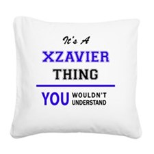 Cute Xzavier Square Canvas Pillow